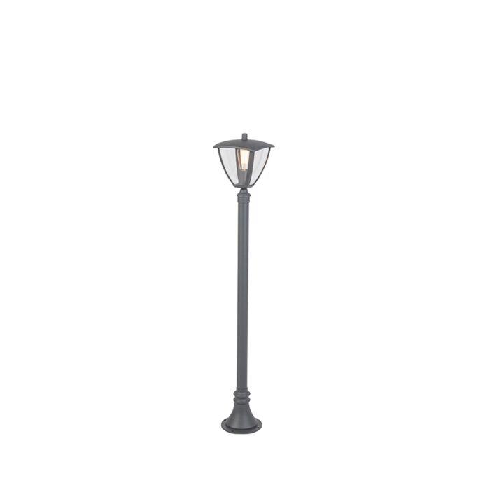 Moderne-Außenlaterne-dunkelgrau-136,5-cm---Platar