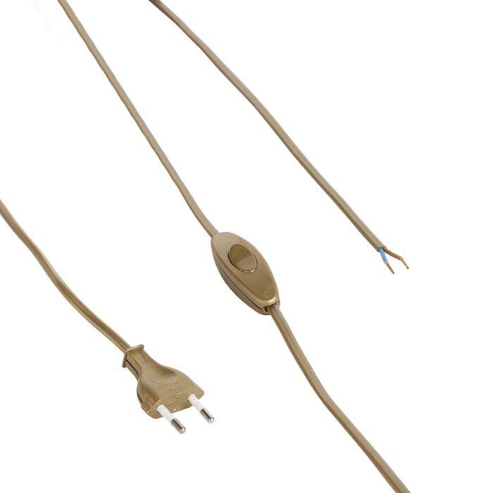 Verbindungskabel-80-120-cm-mit-Schalter-und-Stecker-gold