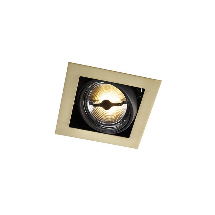 Einbaustrahler-Messing-quadratisch-verstellbar-1-Licht---Oneon-111-1