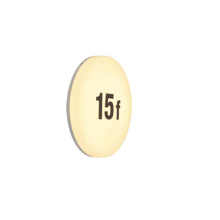 Moderne-runde-Wandleuchte-inkl.-LED-mit-Nummernschild---Plater
