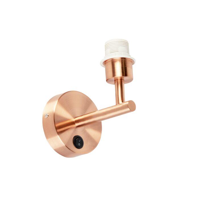 Moderne-1-Licht-Kupfer-Wandleuchte-mit-Schalter---Combi