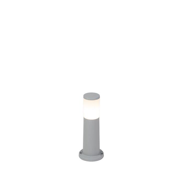 Moderner-Außenmast-grau-40-cm-IP55-inkl.-E27---Carlo