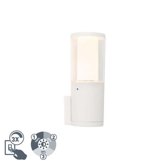 Moderne-Außenwandleuchte-weiß-IP55-inkl.-GU10-3-stufig-dimmbar---Carlo
