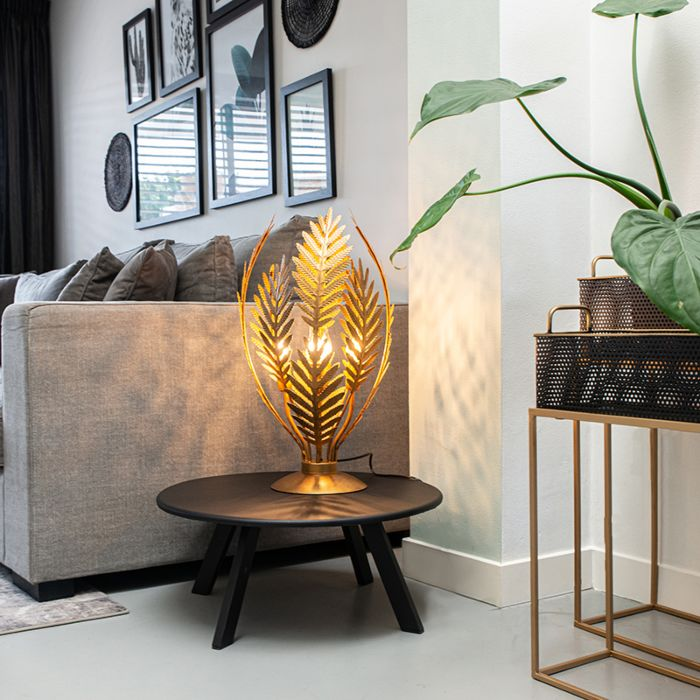 Vintage-Tischleuchte-groß-gold--Botanica