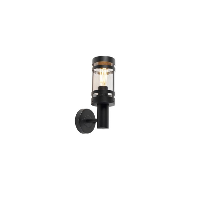 Moderne-Außenwandleuchte-schwarz-IP44---Gleam
