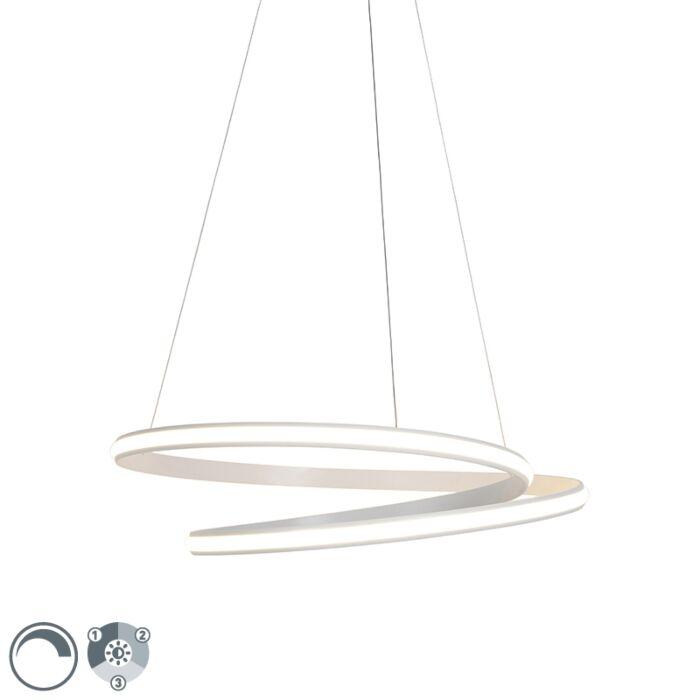 Moderne-Hängelampe-weiß-74cm-inkl.-LED-3-Stufen-dimmbar---Rowan