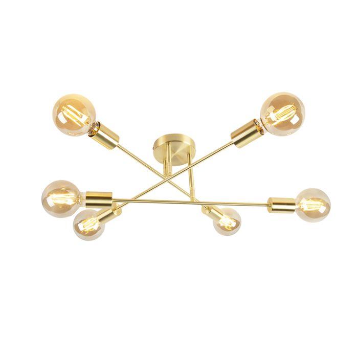 Industrielle-Deckenleuchte-Gold-6-Lichter---Sydney-Bondi