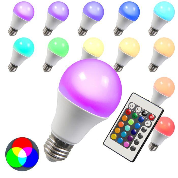 LED-E27-Leuchtmittel-RGB-3Watt-/-180Lumen