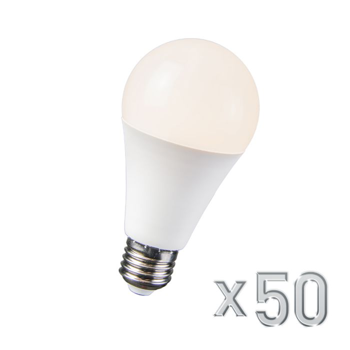 LED-Lampe-10W-E27-B60-WW-50er-Set