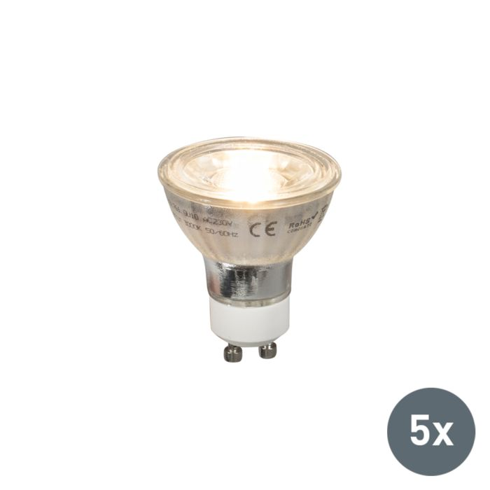 Set-aus-5-GU10-LED-Lampen-COB-5W-380lm-2700K