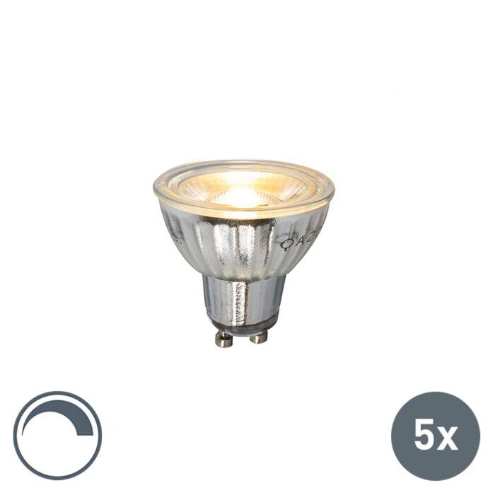 5er-Set-GU10-LED-Leuchtmittel-230V-5W-380LM-2700K-dimmbar