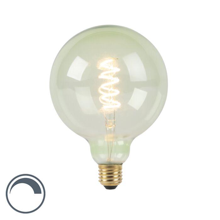 E27-dimmbare-LED-Spiral-Glühlampe-G125-grün-200-lm-2100K