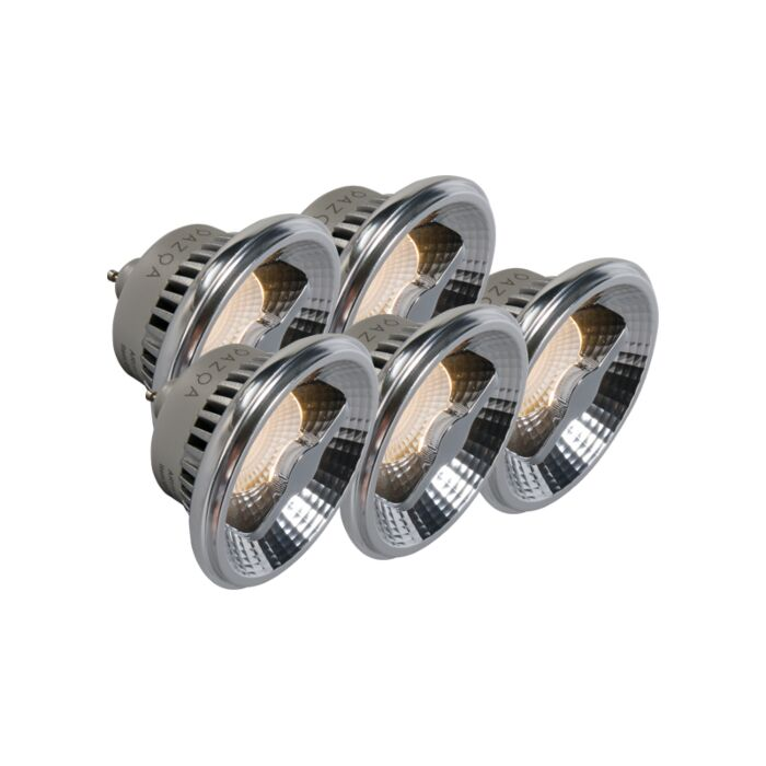 5er-Set-GU10-AR111-LED-Lampe-12W-240V-3000K-dimmbar