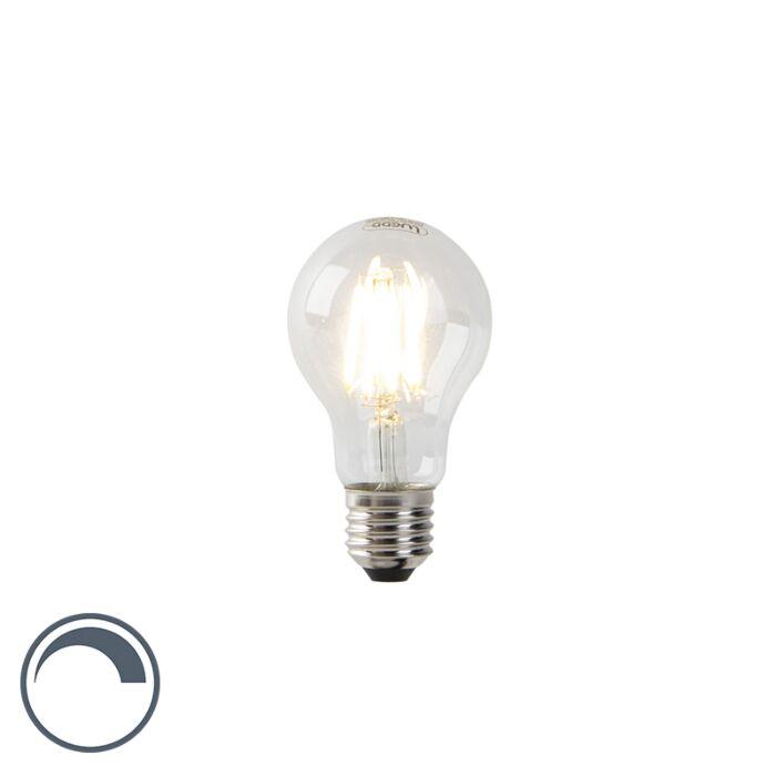 LED-Fadenlampe-A60-E27-7-Watt-2700K-klar-dimmbar