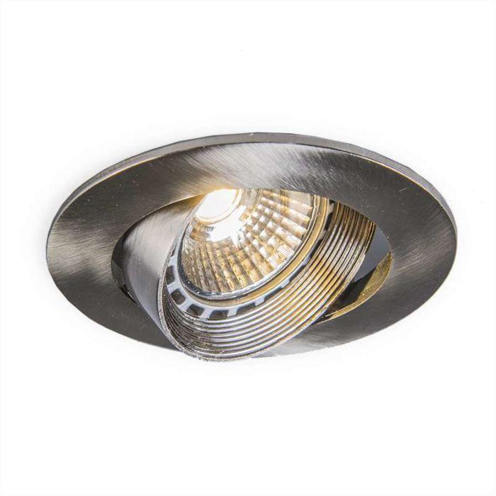 Einbaustrahler-Easy-stahl-LED