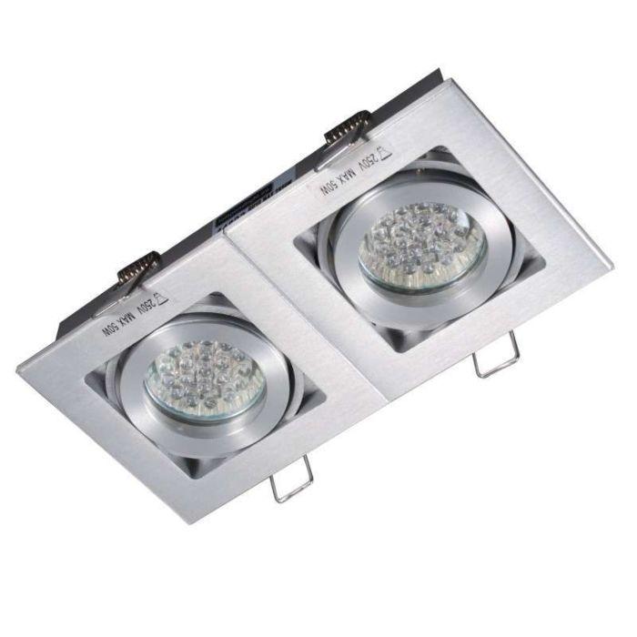 Einbaustrahler-Quadro-2-Aluminium