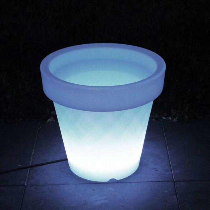 Beleuchteter-Blumentopf-Medium