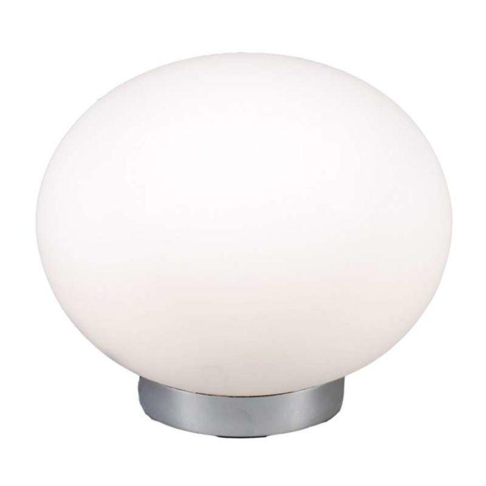 Tischleuchte-Ball-24-Stahl-mit-weißem-Glas