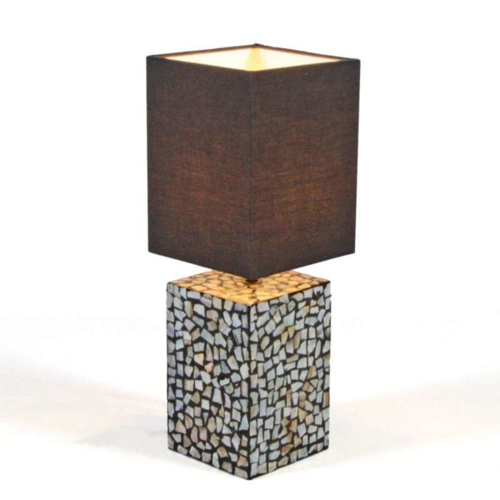 Tischleuchte-Pearl-Perlmutt/schwarz