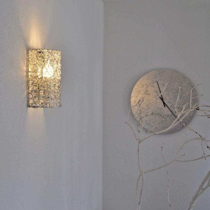 Wandleuchte-Draht-halbrund-Aluminium