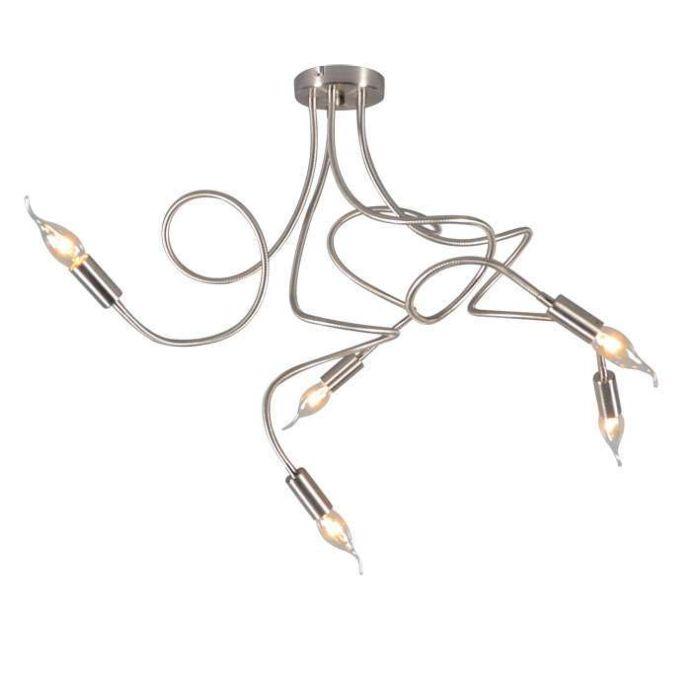 Deckenleuchte-Braccia-5-Stahl