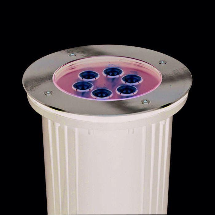 Bodeneinbaustrahler-Power-LED-6-x-1-W