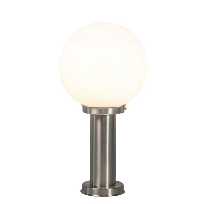 Moderne-Außenleuchte-Mast-Stahl-Edelstahl-50-cm---Sfera