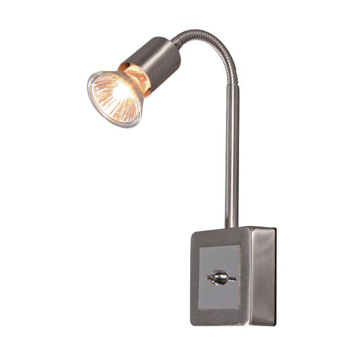 Steckerleuchte-Plug-Flex-Stahl
