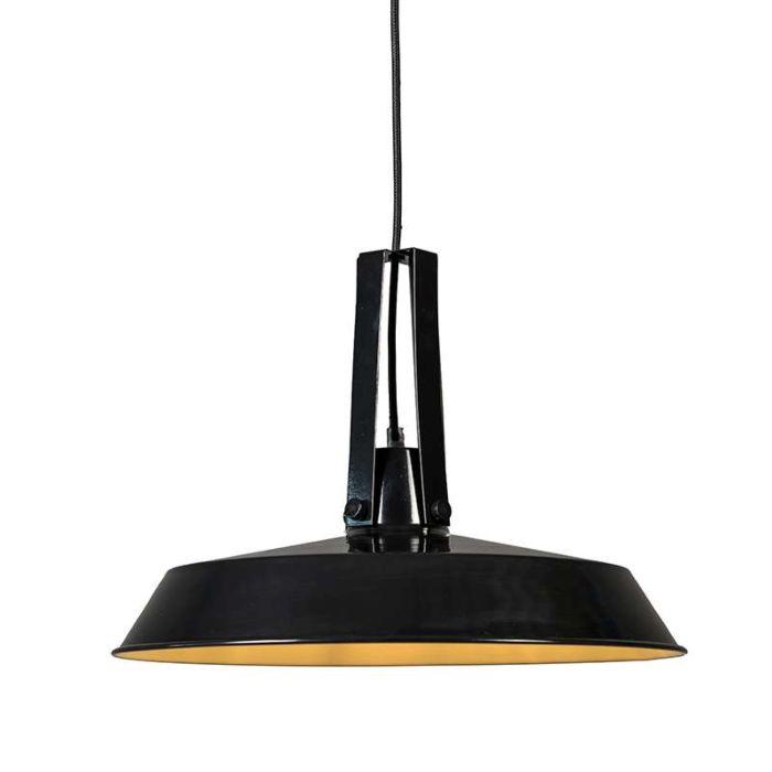 Pendelleuchte-Living-40cm-schwarz