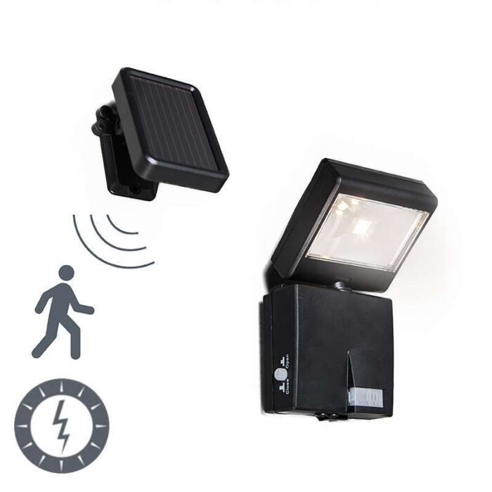 Außenleuchte-Dark-Strahler-LED-mit-Solar-Bewegungsmelder