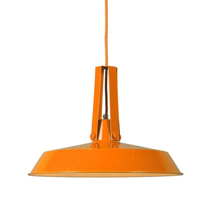 Pendelleuchte-Living-40cm-orange