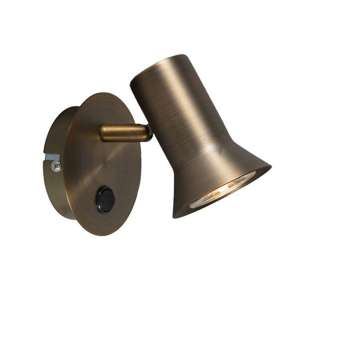Wandstrahler-Bronze-schwenkbar-und-neigbar-mit-Schalter---Karin-1