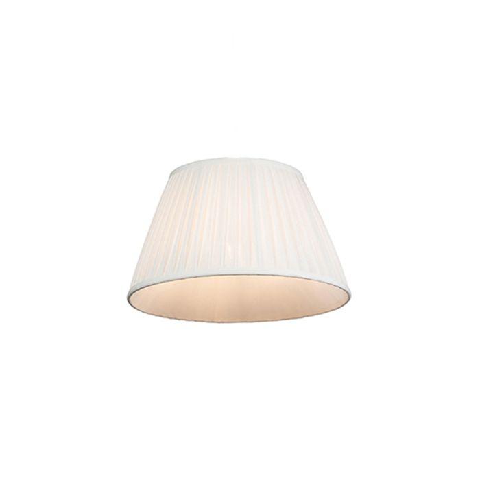Plissee-Lampenschirm-weiß-35/20-cm