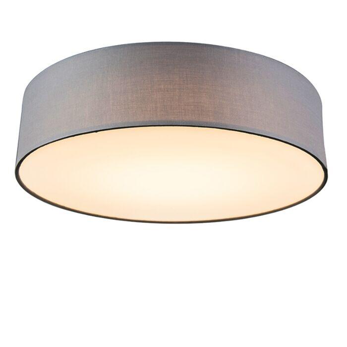 Deckenleuchte-grau-40-cm-inkl.-LED---Drum-LED