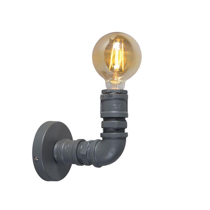 Industrielle-Wandleuchte-dunkelgrau---Plumber-1