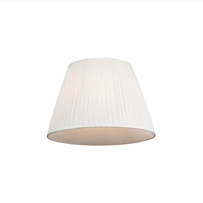 Plissee-Lampenschirm-weiß-45/30-cm