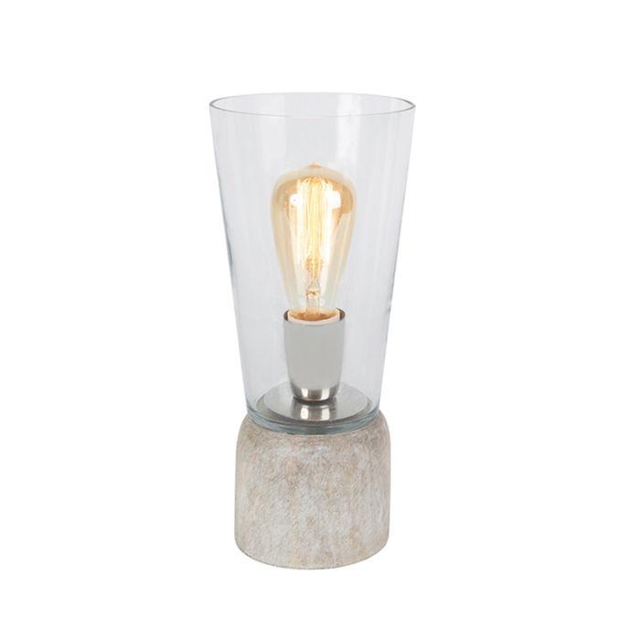 Tischleuchte-Atif-klares-Glas