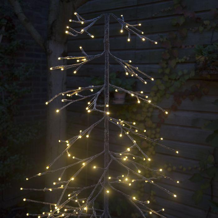 Weihnachtsbeleuchtung-Tannenbaum-Schnee-LED-warmweiß-1,65-m