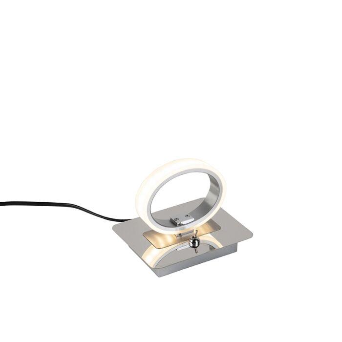 Moderne-runde-Tischleuchte-Chrom-inkl.-LED---Corland