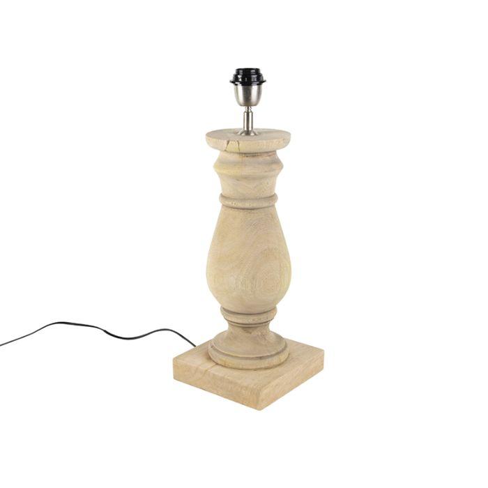 Tischleuchte-im-Landhausstil-Holz-natur-ohne-Lampenschirm---Catnip