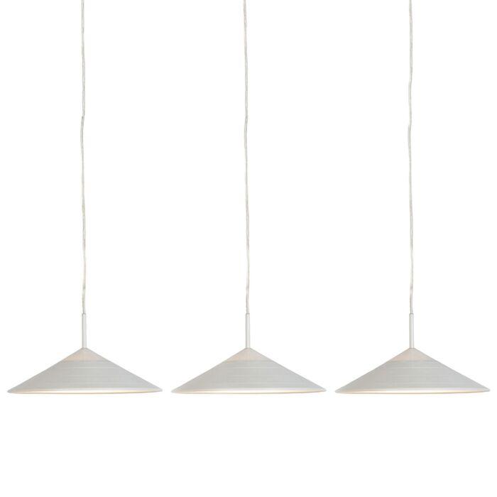 Set-aus-3-modernen-Pendelleuchten-weiß-inkl.-LED---Lupos