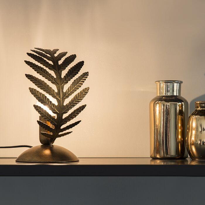Vintage-Tischleuchte-klein-gold---Botanica