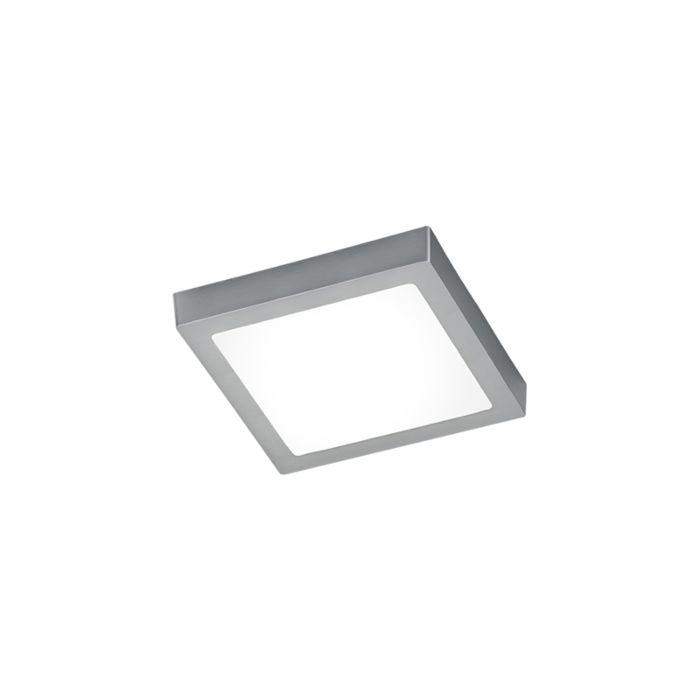 Moderne-viereckige-Deckenleuchte-Stahl-mit-Glas-inkl.-LED---Boy