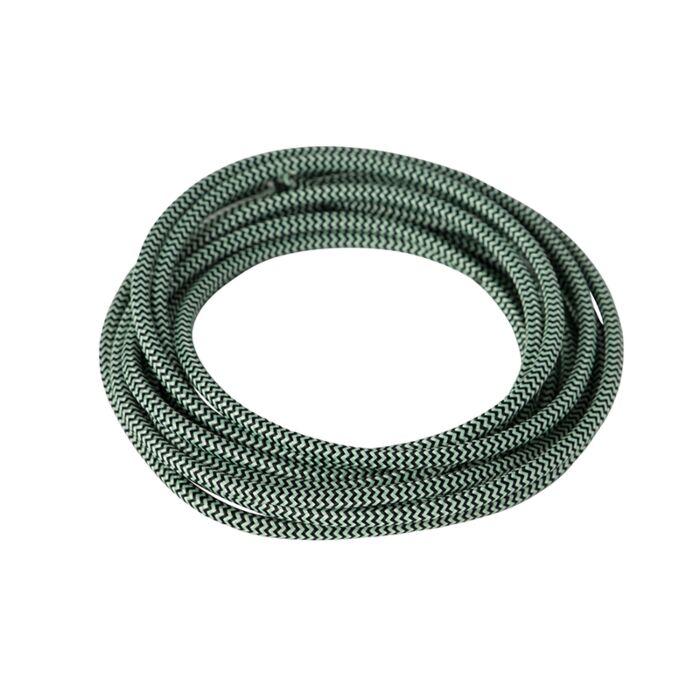 Stoffkabel-geflochten-1-Meter-schwarz-grün