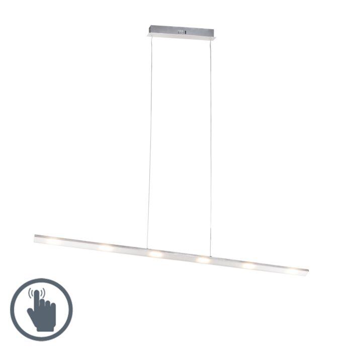 Design-Hängelampe-Steel-Touch-Dimmer-120cm-inkl.-LED---Platinum