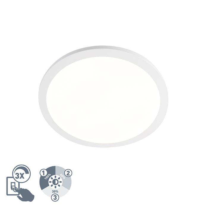 Schlichte-Deckenleuchte-weiß-rund-40cm-IP44-inkl.-LED---Camilla