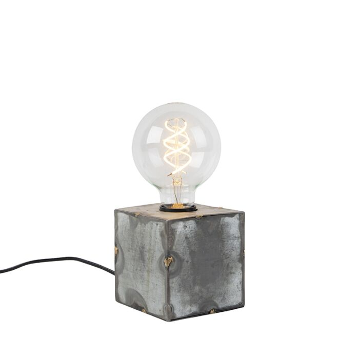 Industrielle-Tischlampe-grau---Samia
