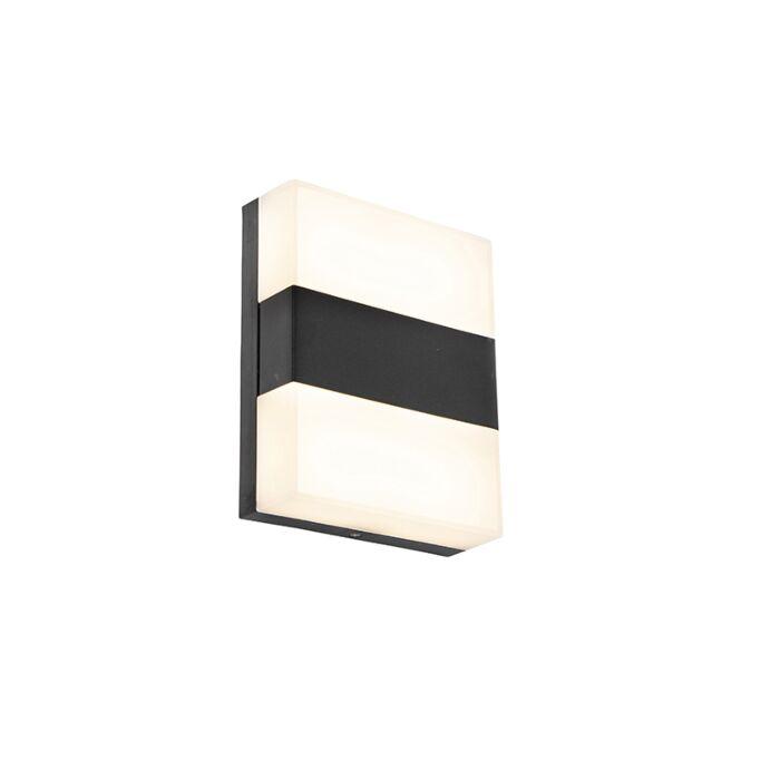Moderne-Außenwandleuchte-schwarz-IP44-inkl.-LED---Dualy