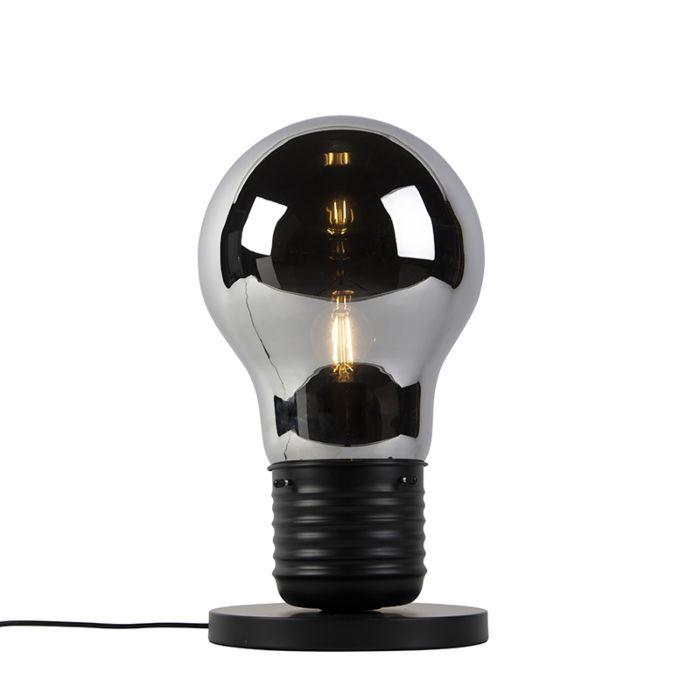 Design-Tischlampe-schwarz-mit-Rauchglas---Nigrum