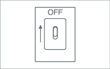 Schalte den Strom aus